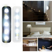 Bright 5 LED Battery Operated Bulb Stick On Push On Strip Lights Kitchen Shed AU