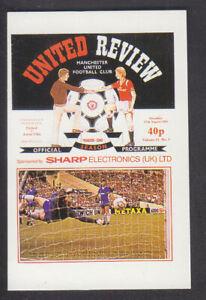 Panini - Football 86 - # 554 Manchester United Programme