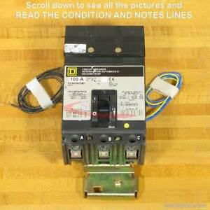 Square D FC341001380 Breaker, 100 Amp, Shunt Trip, Aux Switch, I-Line, NEW!