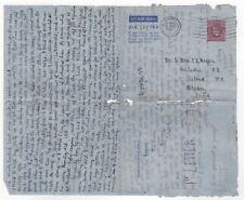 1950 Gb Kgvi Aerogramme Cover Oxford to Salana Assam India Stationery