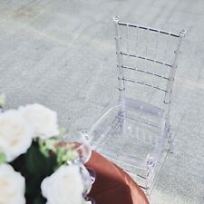 """4 Clear 36"""" Transparent Acrylic Dining Chiavari Chairs Party Wedding Decorations"""