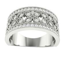 Si1 G 0.85 Ct Round Cut Diamond Wedding Ring 14K Solid Gold Prong set 9.40 mm