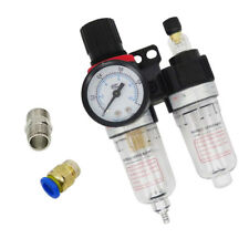Air Compressor Oil Lubricator Water Separator Trap Filter Regulator Gauge #9