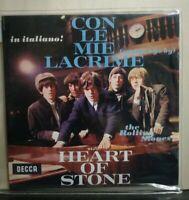 ROLLING STONES - in italiano CON LE MIE LACRIME - HEART OF STONE 45 giri RSTAMPA