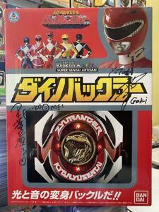 SIGNED!! Bandai Japan Power Rangers Zyuranger SUPER SENTAI ARTISAN DINO BUCKLER