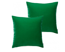 Habitat Regency Set of two green velvet cushions 45 x 45cm  Green RRP £50