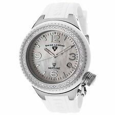 Swiss Legend 11844D-WWSA Neptune Ceramic (44mm) Mother of Pearl/Diamond Watch