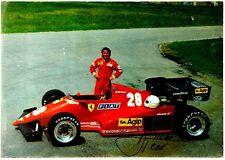 Cartoncino Pubblicitario Scuderia Ferrari - Rene Arnoux Agip Petroli
