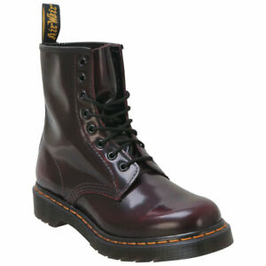 Women's Shoes Dr. Martens 1460 8 Eye Leather Boots 13661601 CHERRY RED ARCADIA