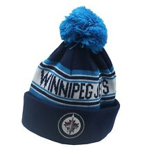 Winnipeg Jets NHL Reebok Youth Boys (8-20) Cuffed Pom Knit Winter Beanie Hat Cap