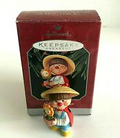 1998 Hallmark Keepsake Gifted Gardener Ladybug Flower Pot Christmas Ornament