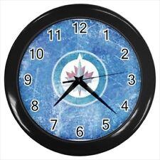 Winnipeg Jets Wall Clock (Black) - NHL Hockey
