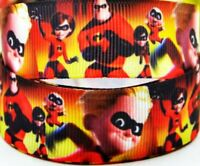 """7//8/"""" 2 YARDS The Incredibles Grosgrain Ribbon  Hair Bows Cards Gift Wrap Crafts"""