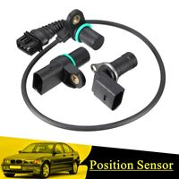 Intake & Exhaust Cam Camshaft & Crankshaft Position Sensor With O-R For BMW