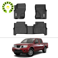 Floor Mats for 2005-2021 Nissan Frontier Crew Cab All-Weather Rubber Black TPO