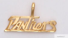 FLORIDA PANTHERS Team Name Necklace Pendant  24k Gold Plated Charm Fan Jewelry