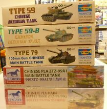 Lot Trumpeter & Bronco 1/35 Chinese Tank Model Kits (5) New