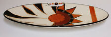 """Large Oval Platter """"Gold Sun"""" by Limpopo Ceramics - with Beading NEW"""