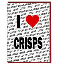 Greeting Card - Birthday Card - I Love Crisps
