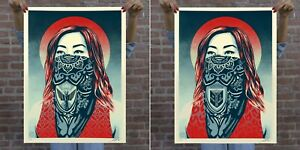 OBEY JUST FUTURE RISING and JUST ANGELS RISING Print SET - Shepard Fairey LE450