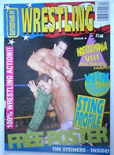 SUPERSTARS OF WRESTLING MAGAZINE ISSUE 4 /PRE POWER SLAM /1992 STEINERS  POSTER