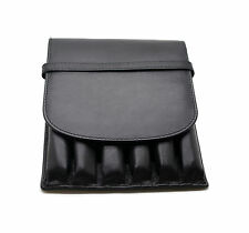 Leather Pen Case 6 Pack Black