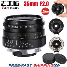 7artisans 35mm Full Frame F2.0 Manual Aperture Focus Lens for Leica M Mount Cam