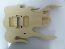 Unfinished RG Jem Guitar Body - Flame - Fits Ibanez (tm) RG Necks