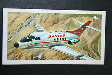 QUANTAS    Hawker Siddeley 125    Illustrated  Card   EXC