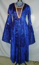 Blue Velvet w/ Brocade Inserts Renaissance Queen - Med.!