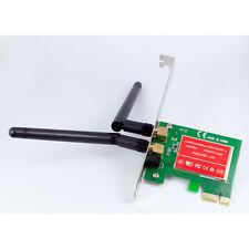 300M Wireless N G PCI-E PCI Express Card Cordless WiFi Network Lan Ethernet NIC