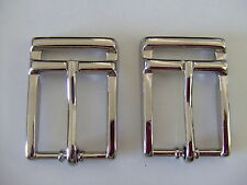 Lot Of  2 Nickel End bar/Harness Belt Buckles By Ribco USA
