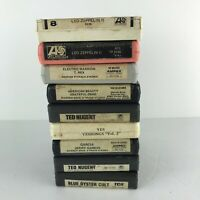 Lot Of 9 Rock 8 Track Tapes (Led Zeppelin Grateful Dead Blue Oyster Nugent Yes