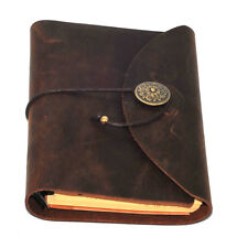 1x Leather Notebook Journal Handmade Vintage Leather Travel Diary Notepad 12 x19