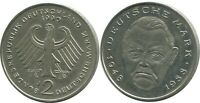 2 DM 1990 J L.Erhard BRD Germany #AG262.3DW