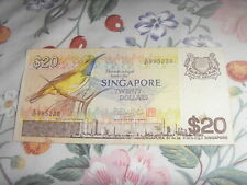 Old 20 dollar Singapore note - Bird series for sale