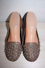 BAGATT femme Chaussures Ballerines mocassins slippers cuir marron kaki 36 NEUF !