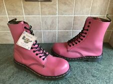 Bnwt! Sz8 England Dr. Martens 1919 Baby Pink Leather Steel Toe Calf Boots EU42