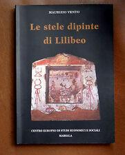 libro archeologia Le stele dipinte di Lilibeo Marsala funerarie e votive puniche