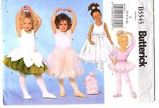 Butterick Sewing Pattern Girl's BALLERINA LEOTARD SKIRT BAG B5545  2-3-4-5 UNCUT