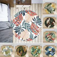 Instagram Leaves Non-slip Round Soft Area Rug Floor Carpet Door Mat Home Decor