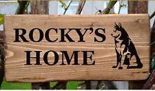 Nombre De Perro Placa de Identificación placa Personalizada Identificación Perro Casa Cajón Kennel Jardín Regalo