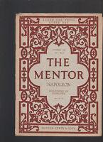 Mentor Magazine November 3 1913 #38 Napoleon