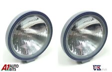 """2x 9"""" 24v 70W TRUCK CLEAR ROUND FOG LIGHTS LAMPS VOLVO MERCEDES RENAULT IVECO"""