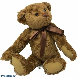 Ganz Plush Cottage Collectibles By Lorraine 1995 Brown Bear W/ Bow Jointed CB104