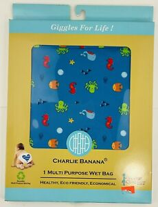 Charlie Banana Diaper Tote Wet Bag - Blue Under The Sea