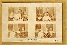 Carte Photo vintage card RPPC vues Famille femme homme enfant mode fashion ph88