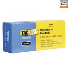 Tacwise 18 Gauge 25mm Brad Nails Pack of 5000