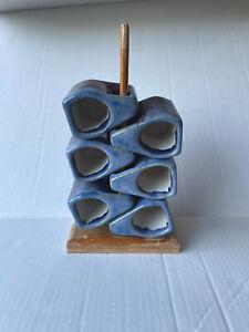 6 Vtg Rodolpho Padilla Mexico Drip Glaze Stoneware Stacking Coffee Mug