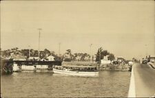 Clearwater FL (I Think) Boat Miss Buckeye c1920s-30s Real Photo Postcard